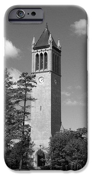Recognition iPhone Cases - Iowa State University Campanile iPhone Case by University Icons