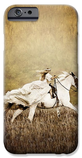 Innocence iPhone Cases - iPhone Case - Ride Like the Wind iPhone Case by Cindy Singleton