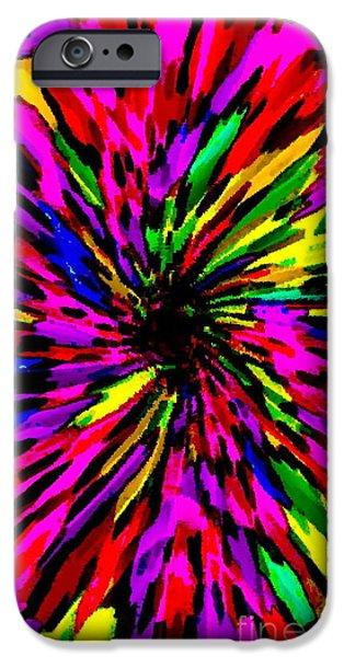 IPHONE CASES COLORFUL FLORAL ABSTRACT DESIGNS CELL AND MOBILE PHONE COVERS CAROLE SPANDAU ART 159 iPhone Case by CAROLE SPANDAU