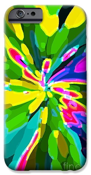 IPHONE CASES COLORFUL FLOWERS ABSTRACT ROSES GARDENIAS TIGER LILY FLORALS CAROLE SPANDAU CBS ART 181 iPhone Case by CAROLE SPANDAU