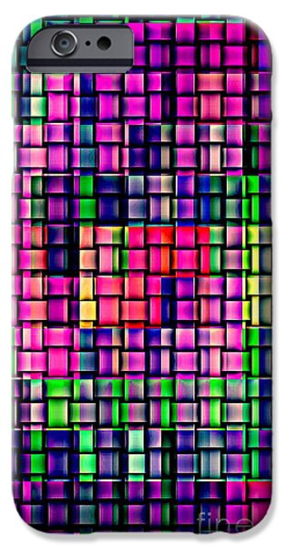 IPHONE CASES COLORFUL INTRICATE GEOMETRIC COVERS CELL AND MOBILE PHONE ART CAROLE SPANDAU CBS 169  iPhone Case by CAROLE SPANDAU