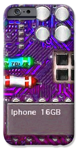 Circuit iPhone Cases - Iphone I-art p128 iPhone Case by Wingsdomain Art and Photography