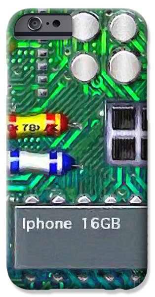 Circuit iPhone Cases - Iphone I-art iPhone Case by Wingsdomain Art and Photography