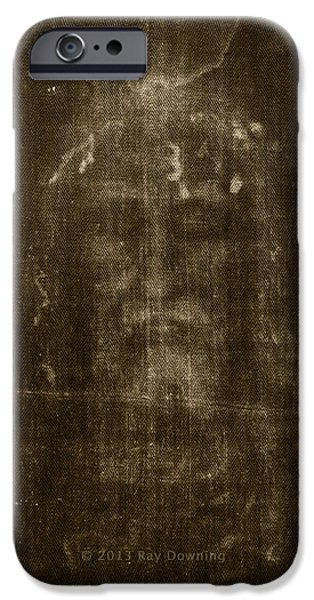 Turin Digital Art iPhone Cases - iPhone Shroud of Turin iPhone Case by Ray Downing