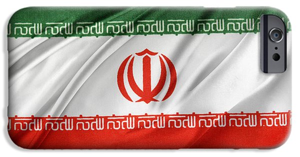 Patriotism iPhone Cases - Iranian flag iPhone Case by Les Cunliffe
