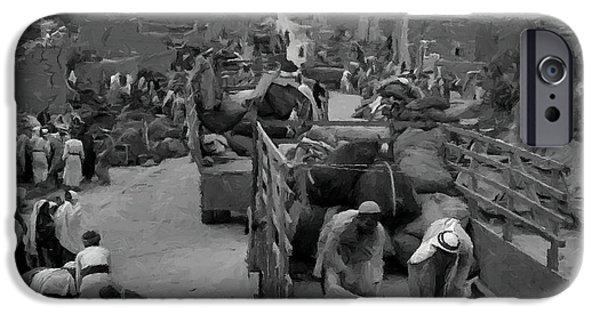 Iraq iPhone Cases - Iraq Al Manshiyya Evacuation 1948 iPhone Case by Munir Alawi