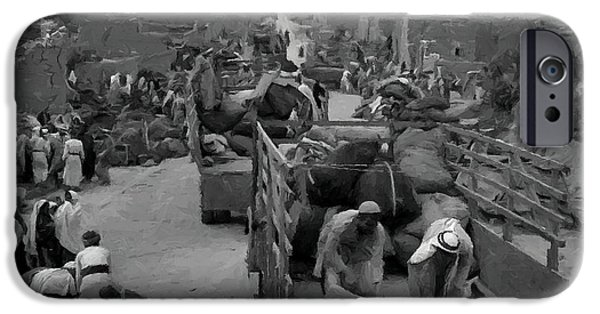 Iraq Prints iPhone Cases - Iraq Al Manshiyya Evacuation 1948 iPhone Case by Munir Alawi