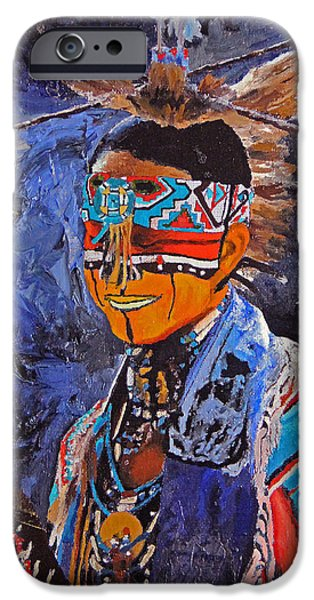Iraq Paintings iPhone Cases - Iraq War Veteran iPhone Case by Lane DeWitt