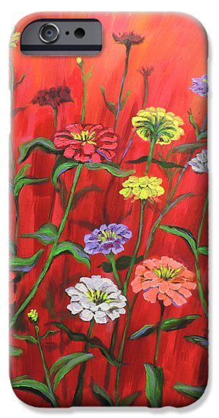 Red Geraniums iPhone Cases - I-RED-escent iPhone Case by Rick Osborn