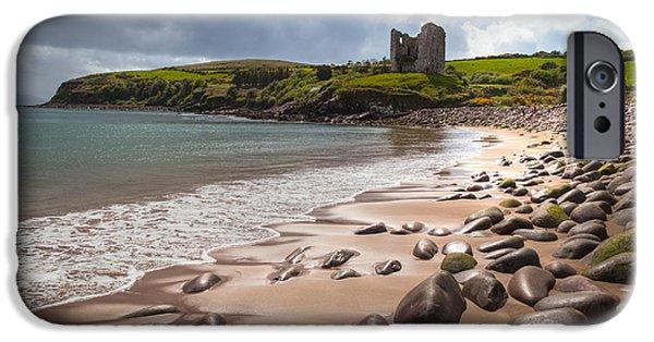 Best Sellers -  - Sand Castles iPhone Cases - Ireland - Castle Minard iPhone Case by Juergen Klust