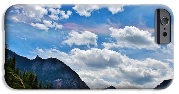 A Summer Evening Landscape iPhone Cases - Iridescent Clouds Above Ouray Colorado iPhone Case by Janice Rae Pariza