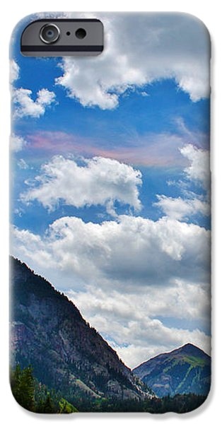 Iridescent Clouds Above Ouray Colorado iPhone Case by Janice Rae Pariza