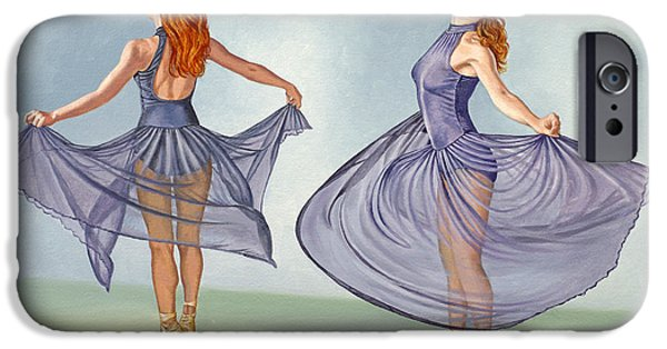 Figure iPhone Cases - Irina Dancing in Sheer Skirt iPhone Case by Paul Krapf