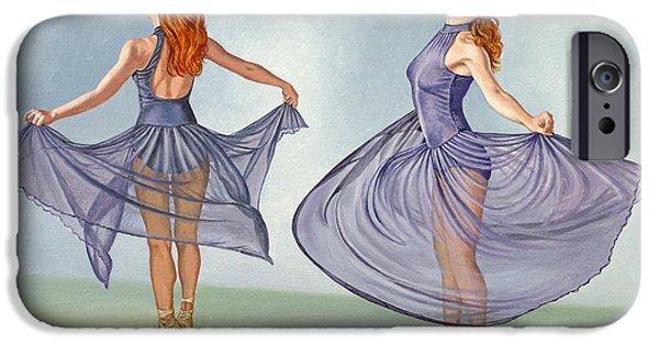 Figures Paintings iPhone Cases - Irina Dancing in Sheer Skirt iPhone Case by Paul Krapf