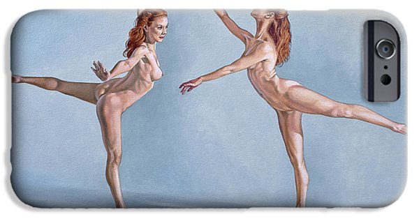 Figure iPhone Cases - Irina Dancing iPhone Case by Paul Krapf