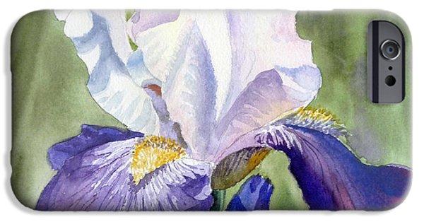 Iris iPhone Cases - Iris     iPhone Case by Irina Sztukowski