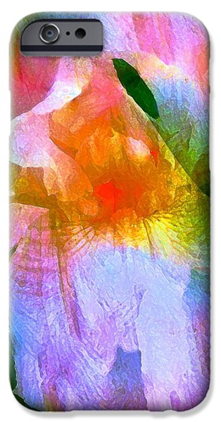Iris 53 iPhone Case by Pamela Cooper