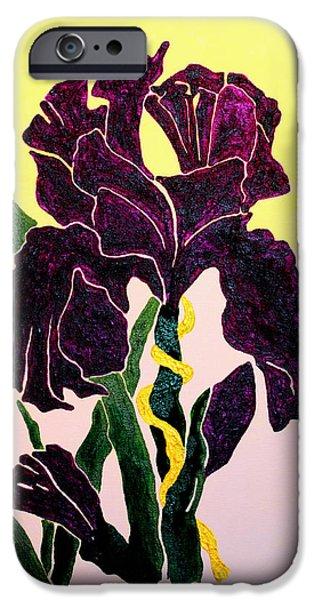 Iris iPhone Cases - Iris iPhone Case by Andrew Petras