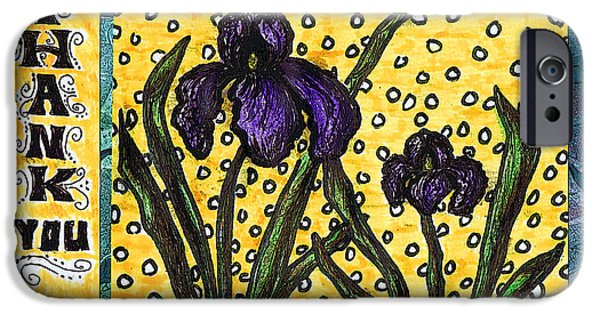 Multimedia iPhone Cases - Iris Garden iPhone Case by Joy Neasley
