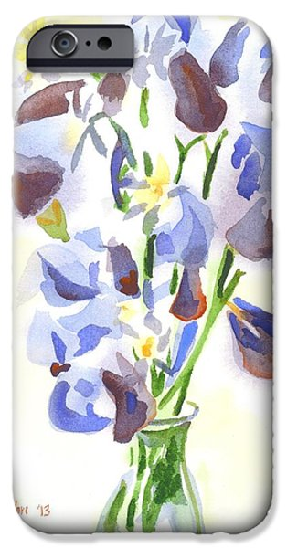 """indoor"" Still Life Paintings iPhone Cases - Irises Aglow iPhone Case by Kip DeVore"