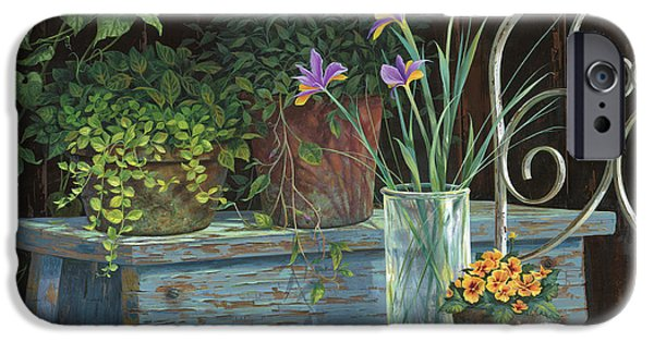Michael Paintings iPhone Cases - Irises iPhone Case by Michael Humphries
