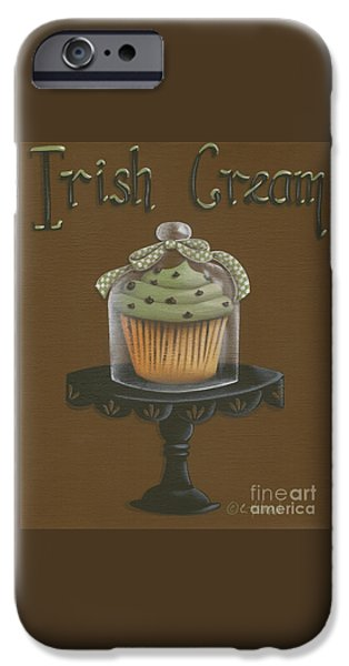Irish Cream Cupcake iPhone Case by Catherine Holman