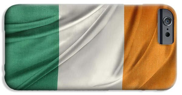 Patriotism iPhone Cases - Irish flag iPhone Case by Les Cunliffe
