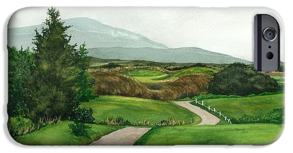 Linked Paintings iPhone Cases - Irish Greens iPhone Case by Barbara Jewell