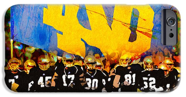 Football Paintings iPhone Cases - Irish in Color iPhone Case by John Farr