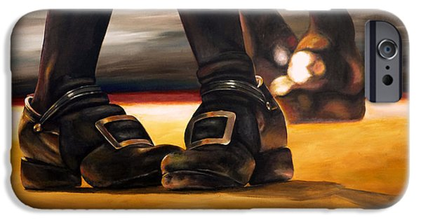 Dance Floor Paintings iPhone Cases - Irish Jig Dancing Feet iPhone Case by Michelle Iglesias