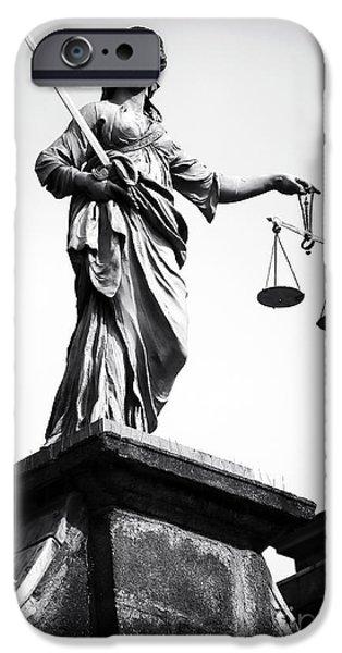Irish Photographs iPhone Cases - Irish Justice iPhone Case by John Rizzuto