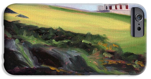 Business Paintings iPhone Cases - Irish Lighthouse iPhone Case by Nancy Merkle