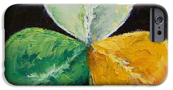 Michael Paintings iPhone Cases - Irish Shamrock iPhone Case by Michael Creese