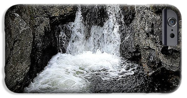 Abstract Expressionism Photographs iPhone Cases - Irish Waterfall iPhone Case by Patrick J Murphy