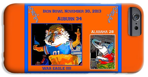 Bama iPhone Cases - Iron Bowl 2013 iPhone Case by Marian Bell