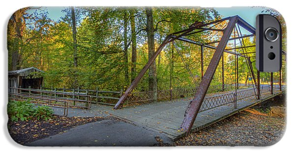 Daviess County Photographs iPhone Cases - Iron Bridge at Yellow Creek iPhone Case by Wendell Thompson