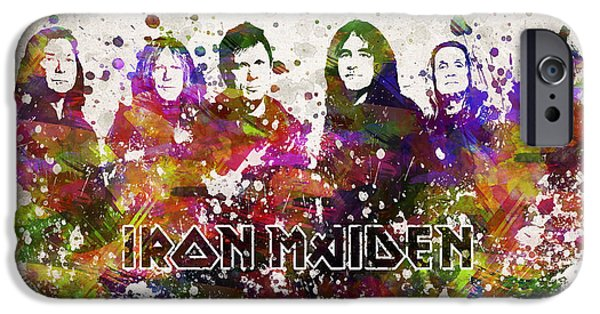 Dave Digital Art iPhone Cases - Iron Maiden in Color iPhone Case by Aged Pixel