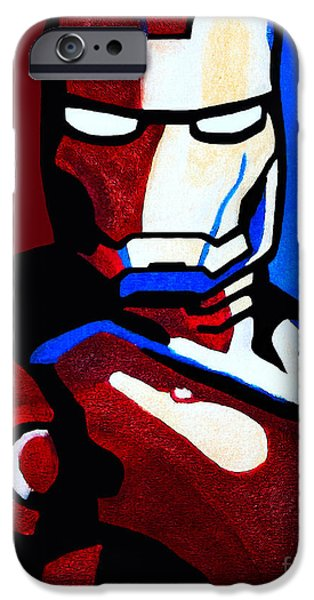Ironman iPhone Cases - Iron Man 2 iPhone Case by Barbara McMahon