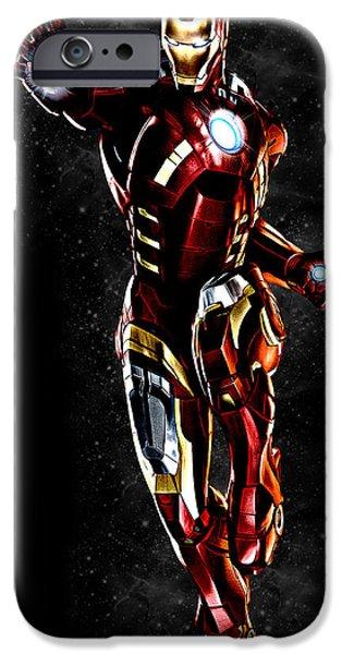 Dave iPhone Cases - Iron Man Davehill iPhone Case by Renato Armignacco