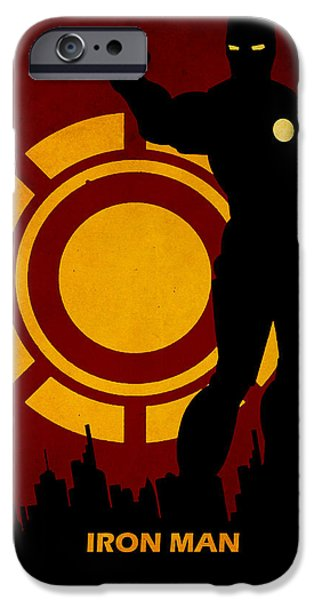 Recently Sold -  - The Tiger iPhone Cases - Iron Man iPhone Case by FHTdesigns