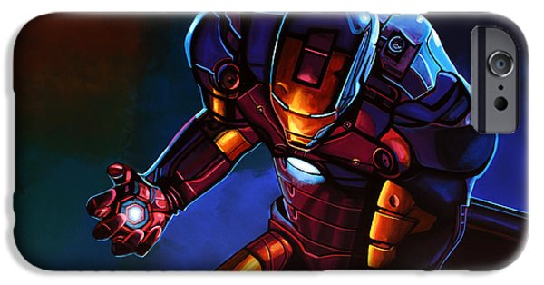 Rhodes iPhone Cases - Iron Man  iPhone Case by Paul  Meijering