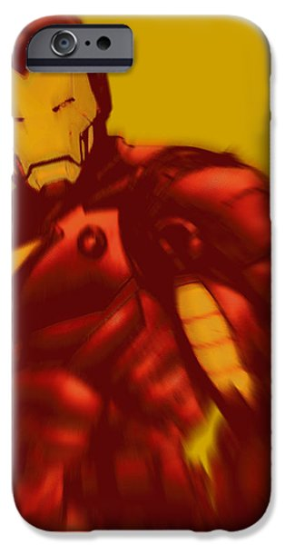 Empower iPhone Cases - Iron Man Pop Crop Gold iPhone Case by Tony Rubino