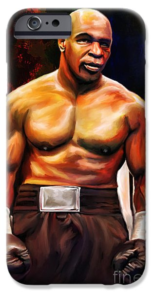 Boxer iPhone Cases - Iron Mike. iPhone Case by Andrzej Szczerski