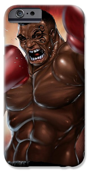 Manga iPhone Cases - Iron Mike iPhone Case by Pete Tapang