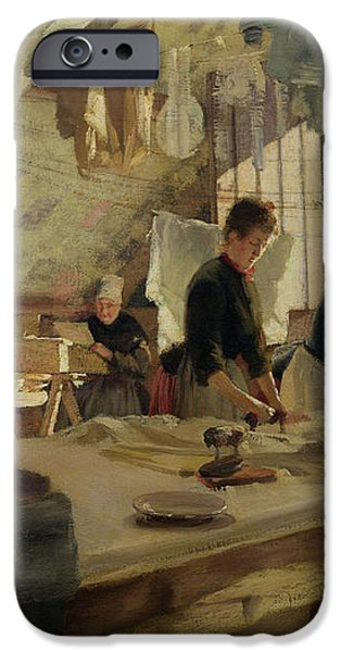 Ironing Workshop in Trouville iPhone Case by Louis Joseph Anthonissen