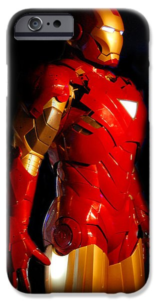 Ironman iPhone Cases - Ironman on black background iPhone Case by Gina Dsgn