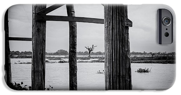 River View iPhone Cases - Irrawaddy River Tree iPhone Case by Dean Harte