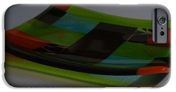 Lines Glass iPhone Cases - Irridescent Dish iPhone Case by Rosalind Duffy