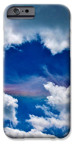 Irridescent Rainbows Among The Clouds iPhone Case by Janice Rae Pariza