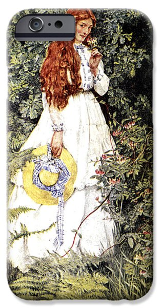 Garden Scene Digital iPhone Cases - Is She Not Pure Gold My Mistress iPhone Case by Eleanor Fortescue Brickdale